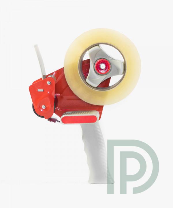 Диспенсер для скотча 48мм металлический красный