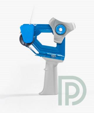 Диспенсер для скотча 48мм металлический синий