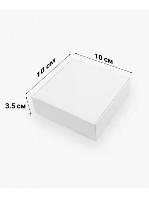 Коробка для пряников 100*100*35мм белая