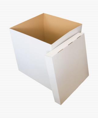 Коробка-сюрприз для воздушных шаров 60*60*70см белая
